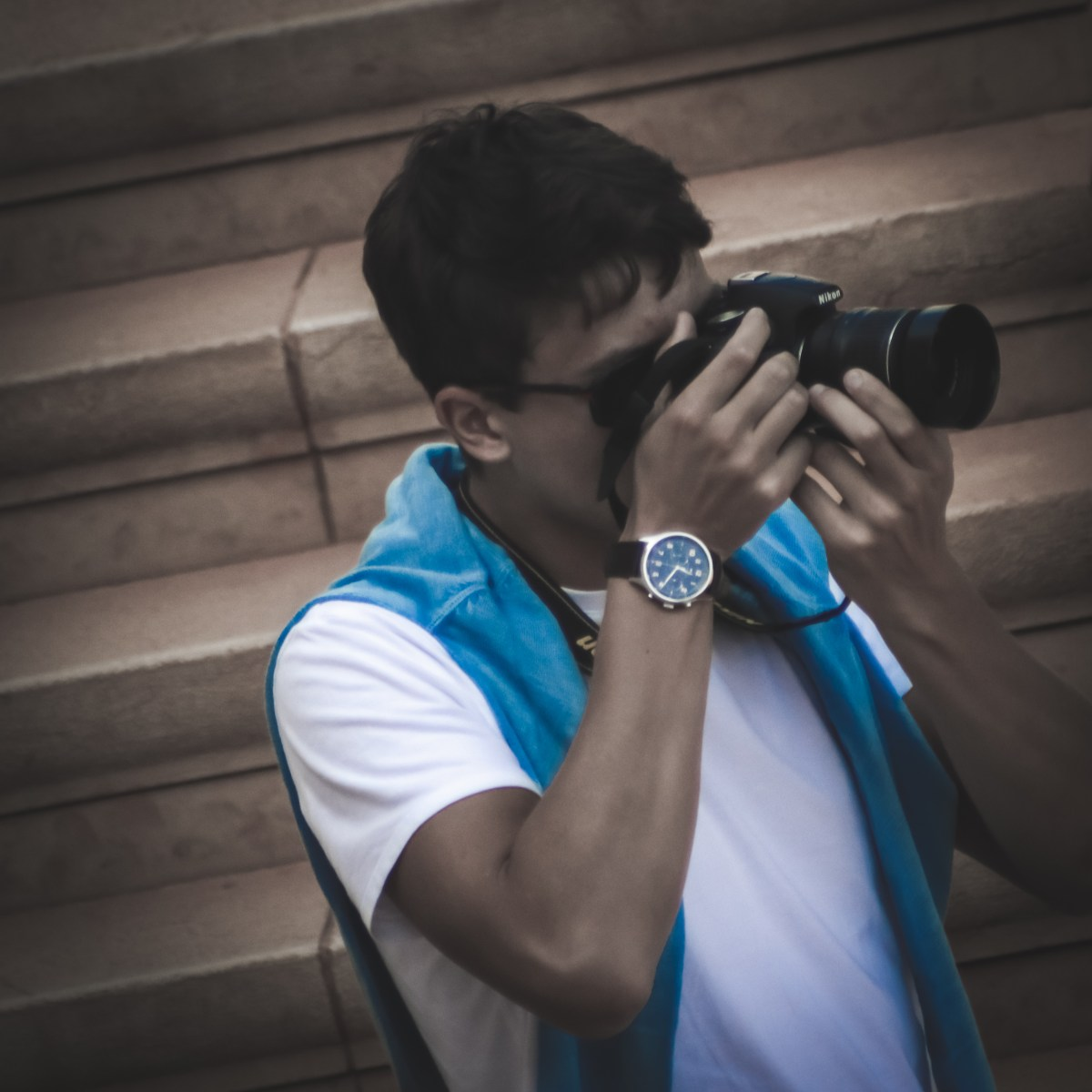 Cool watch, cool camera, cool guy