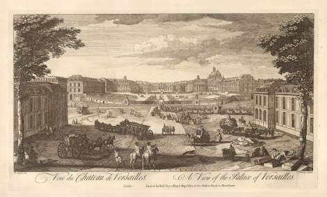 "Sayer: Versailles. 1774. An original antique copper engraving. 18"" x 10"". [FRp1565]"
