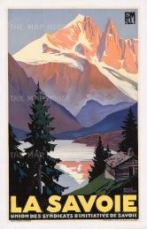 Savoie: PLM (Paris-Lyon-Mediterannee Railways) promotional poster for Savoie department in the French Alps