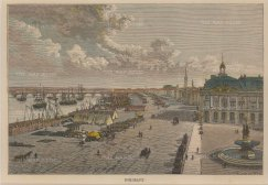 "Reclus: Bordeaux. 1894. A hand coloured original antique wood engraving. 8"" x 6"". [FRp1443]"