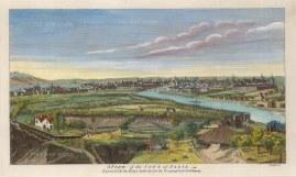 """Moll: Paris. c1745. A hand coloured original antique copper engraving. 11"""" x 8"""". [FRp1579]"""