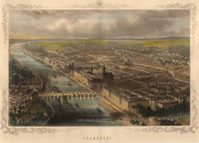 "Carse: Frankfurt. c1850. A hand coloured original antique steel engraving. 13"" x 8"". [GERp1219]"