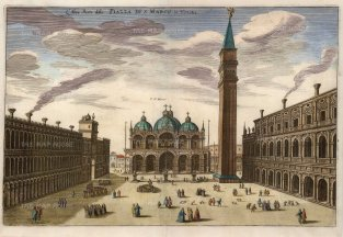 Venice: Piazza di San Marco. Looking towards the Basilica.