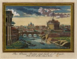Alian Bridge and Castle of St. Angelo: With Part of the City of Rome.
