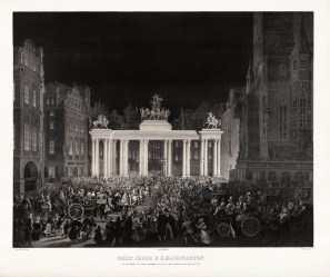 Coronation of Ferdinand I and Maria-Anna of Savoy, King and Queen of Bohemia. He later abdicated and was succeeded by his nephew, Franz Joseph.