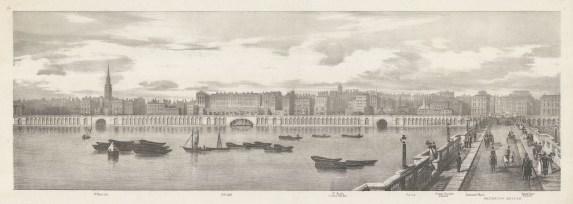 Waterloo Bridge: Thames view from St.Martin's to Waterloo Bridge