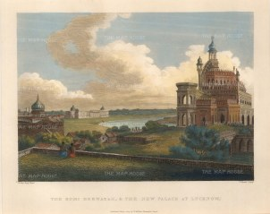 "Salt: Lucknow. 1809. A hand coloured original antique steel engraving. 10"" x 8"". [INDp1244]"