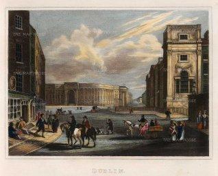 "Kelly: Dublin. c1817. A hand coloured original antique steel engraving. 9"" x 7"". [IREp669]"