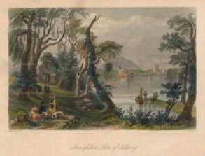 "Bartlett: Lake of Killarney. 1841. A hand coloured original antique steel engraving. 8"" x 6"". [IREp678]"