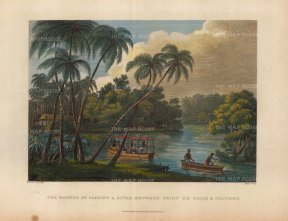 Manner of Passing a River Between Point de Galle & Columbo.