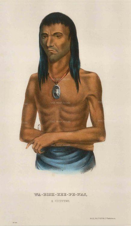 Wa-Bish-Kee-Pe-Nas: A Chippewa Man.