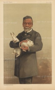 Hydrophobia (Rabies). Louis Pasteur after Theobaed Chartran.