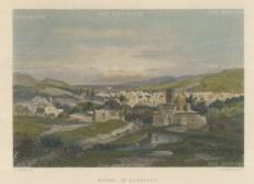 "Wilson: Damascus. c1883. A hand coloured original antique steel engraving. 11"" x 9"". [MEASTp1213]"