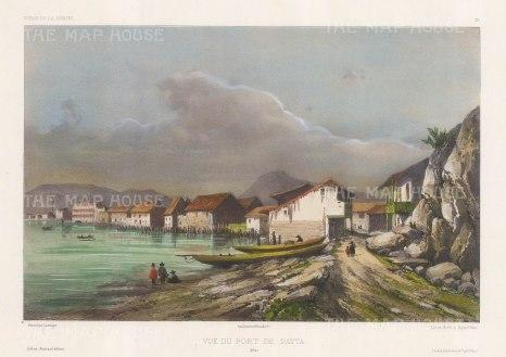 "Capt. Vaillant: Paita, Peru. c.1850. A hand coloured original antique lithograph. 13"" x 10"". [SAMp1329]"
