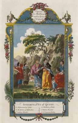 """Middleton: Quito, Ecuador. 1778. A hand coloured original antique copper engraving. 7"""" x 12"""". [SAMp1409]"""