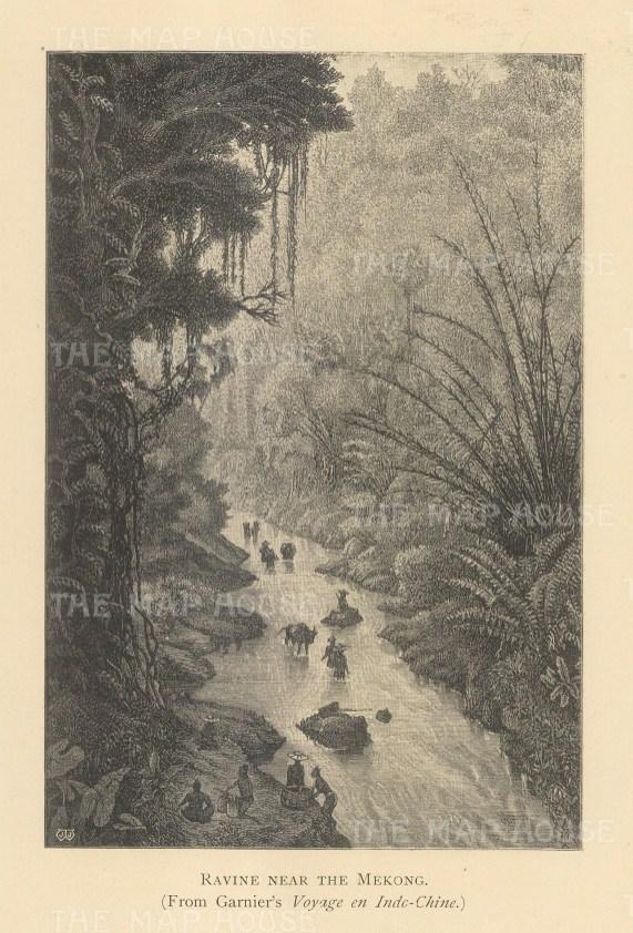 """Clifford: Mekong, Vietnam. 1905. An original antique photolithograph. 4"""" x 6"""". [SEASp1656]"""