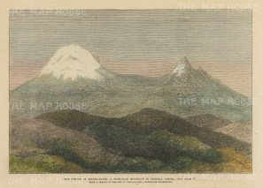 Tanzania: Kilimanjaro. View of the summit after Rev. New of Henry Stanley's expedition.