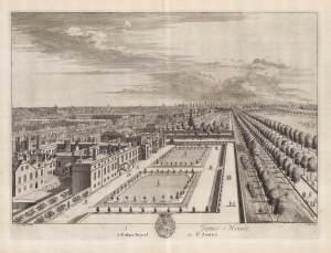 deleteSt. James's Palace: Bird's eye view of the palace and grounds.