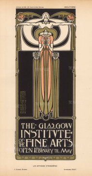 Designed by Herbert McNair, Margaret and Francis MacDonald, who with Charles Rennie MacIntosh were known as 'The Four' of Scottish Art Nouveau.