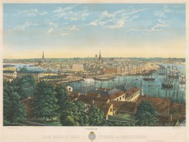 "Mester: Stockholm, Sweden. c1860. An original colour antique lithograph. 25"" x 19"". [SCANp234]"
