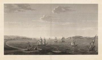 "Melling: Dardanelles. 1819. An original antique copper engraving. 36"" x 20"". [TKYp1264]"
