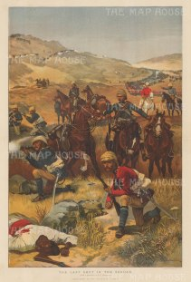 Last Shot in the Soudan: After the celebrated war artist RC Woodville. First Anglo-Sudan War:
