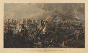 Battle of Waterloo: Charge of the Life Guards after Luke Clennell.
