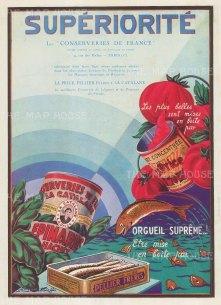 """L'Illustration: La Price Pellier Freres & La Cataline. 1939. An original vintage chromolithograph. 9"""" x 12"""". [DECp2088]"""