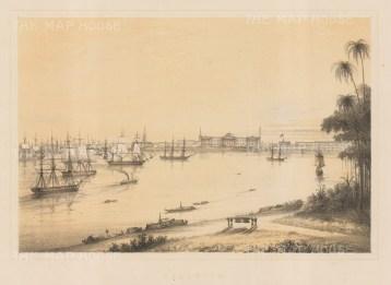 "Anderson: Kolkata. c1859. An original colour antique lithograph. 10"" x 8"". [INDp1336]"