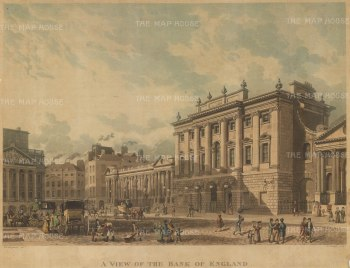 View of the front elevation and Threadneedle Street.