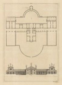 Architectural Elevation: Facade and plan. XXXVI.