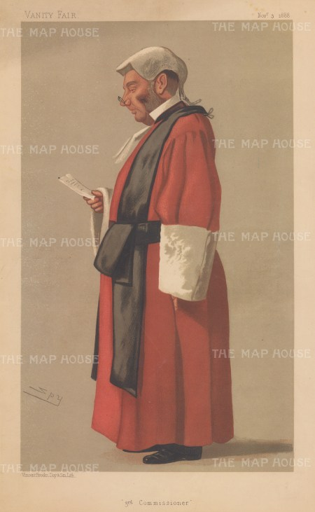 3rd Commissioner. Red Robed Judge. Sir Archibald Levin Smith. SPY
