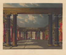 Dining room with Ionic columns looking towards the west end conservatory.