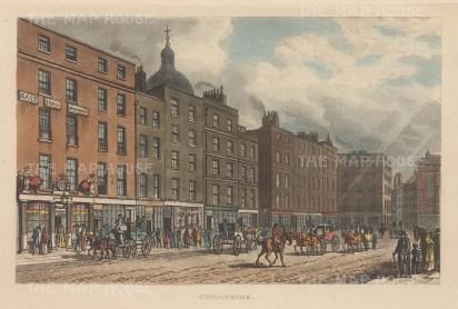 "Papworth: Cheapside. 1816. An original colour antique aquatint. 8"" x 6"". [LDNp6685]"