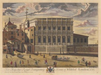 Banqueting House. The only surviving part of the palace of Whitehall following the fire of 1698.