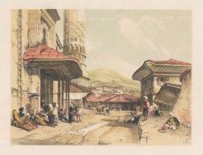 "Lewis: Bursa (Brousse). 1837. A hand coloured original antique lithograph. 14"" x 11"". [TKYp178]"