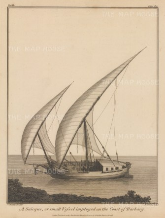 Barbary: Saicque or small vessel on the coast of Barbary.
