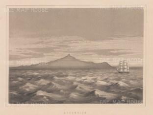 "Anderson: Ascension Island, South Atlantic Ocean. 1859. An original antique lithograph. 11"" x 8"". [AFRp974]"