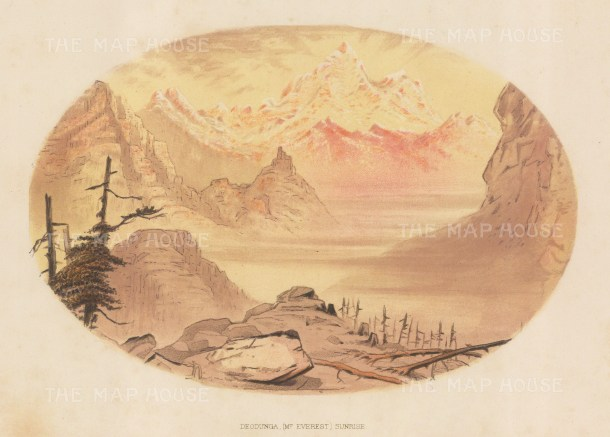 Mount Everest (Deodungha - Holy Mountain): View at sunrise. After the first Western women to see Everest.