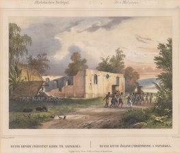 Moluccas: Saparua Island. Ruins of the church at Nolloth now restored.