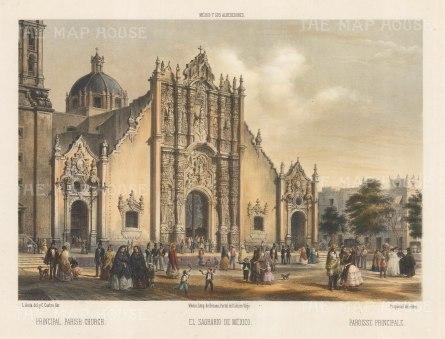Mexico City: El Sagrario de Mexico. The Sagrario tabernacle adjacent to the Mexico City Metropolitan Cathedral.