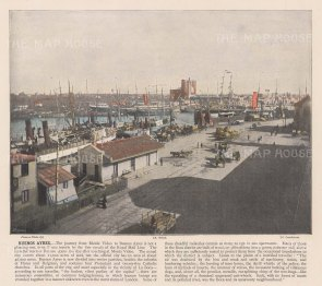 "Miesenbach: Buenos Ayres, Argentina. c1930. A hand coloured original antique photolithograph. 12"" x 8"". [SAMp1421]"
