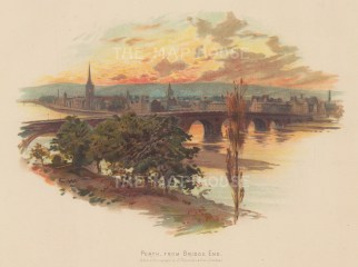 "Valentine: Perth. c1890. An original antique chromolithograph. 8"" x 7"". [SCOTp1626]"