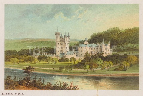 "Nelson: Balmoral Castle. 1890. An original antique chromolithograph. 5"" x 4"". [SCOTp1707]"