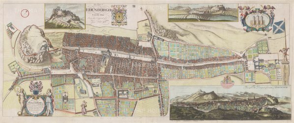 After James Gordon of Rothiemay's 1647 plan, originally engraved by Frederich de Wit. Gordon was son of geographer Robert Gordon of Straloch who surveyed the city in 1646-1674.
