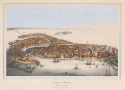 Rare bird's Eye view of the city of Venice from the Guidecca.