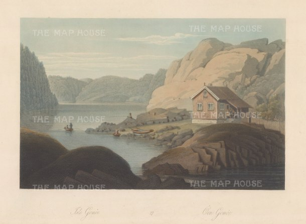 "Boydell: Gomoe Islandi, Norway. 1820. An original colour antique aquatint. 14"" x 10"". [SCANp328]"