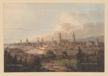 "Bowyer: Gdansk, Poland. c1815. An original colour antique aquatint. 13"" x 9"". [CEUp261]"