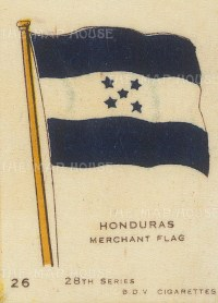 """BDV Cigarettes: Honduras. c1900. Original printed colour on silk. 2"""" x 3"""". [ARMp52]"""