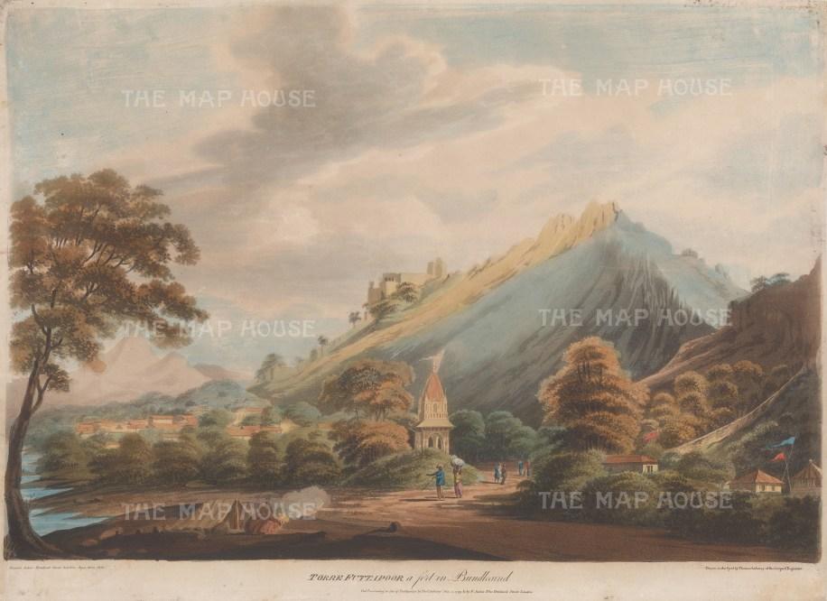 "Anburey: Madhya Pradesh, (Bundelcund). 1799. An original colour antique aquatint. 20"" x14"". [INDp1488]"